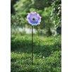 Glass Flower Garden Stake - Sunjoy Garden Statues and Outdoor Accents