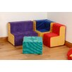 Sport and Playbase Children's 4 Piece Square Table and Chair Set
