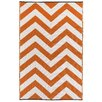 Fab Habitat Laguna Hand-Woven Orange Indoor/Outdoor Area Rug