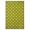 Fab Habitat World Sunny Lime/Charcoal Grey Indoor/Outdoor Area Rug