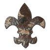 Ozark Folk Art Antique Tin Fleur-De-Lis Wall Art