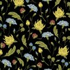"""Walls Need Love Florence Removable 5' x 20"""" Floral Wallpaper"""