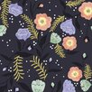 """Walls Need Love Moon Flowers Removable 5' x 20"""" Floral Wallpaper"""