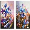 Omax Decor 'Iris of My Eye' 2 Piece Original Painting on Canvas Set
