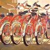 "Portfolio Canvas Decor ""Retro Bikes"" Painting Print on Wrapped Canvas"