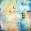 Portfolio Canvas Decor Layered Blue 1 by Karen Hale Painting Print on Wrapped Canvas