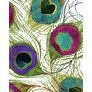 Portfolio Canvas Decor Peacock Feathers 1 by Mindy Sommers Graphic Art on Wrapped Canvas