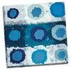Portfolio Canvas Decor 'Orbital Blue' by IHD Studio Painting Print on Wrapped Canvas