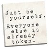 Portfolio Canvas Decor Be Yourself 1 by IHD Studio Textual Art on Wrapped Canvas