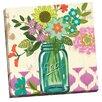 Portfolio Canvas Decor Mason Jar Flowers Violet by Jennifer Brinley Graphic Art on Wrapped Canvas