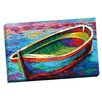 Portfolio Canvas Decor Rowboat 1 by Marion Rose Painting Print on Wrapped Canvas