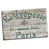 Portfolio Canvas Decor Vintage Signs La Creperie Green by IHD Studio Textual Art on Wrapped Canvas