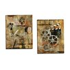 Portfolio Canvas Decor Dramatique I by Georgie 2 Piece Graphic Art on Wrapped Canvas Set