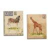 Portfolio Canvas Decor Africana Giraffe by Lisa Ven Vertloh 2 Piece Painting Print on Wrapped Canvas Set