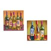 Portfolio Canvas Decor Bottles Pinot by Geoff Allen 2 Piece Painting Print on Wrapped Canvas Set