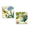 Portfolio Canvas Decor Bird Garden Agapanthus by Jennifer Brinley 2 Piece Painting Print on Wrapped Canvas Set