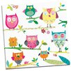 Portfolio Canvas Decor Tracks Owls by Liz and Kate Pope Painting Print on Wrapped Canvas