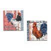 Portfolio Canvas Decor Bon Rooster 3 by Jennifer Brinley 2 Piece Painting Print on Wrapped Canvas Set
