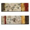 Portfolio Canvas Decor Bamboo Light I by Dysart 2 Piece Painting Print on Wrapped Canvas Set