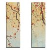 Portfolio Canvas Decor Blossom Panel I by Elinor Luna 2 Piece Painting Print on Wrapped Canvas Set