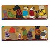 Portfolio Canvas Decor Dogs in a Row I by Dupre 2 Piece Painting Print on Wrapped Canvas Set