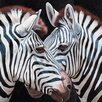 Portfolio Canvas Decor Two Zebras II by P.Charles Painting Print on Wrapped Canvas