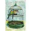 Portfolio Canvas Decor Birdcage Dictionary II (version 2) by Elinor Luna Graphic Art on Wrapped Canvas