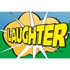Portfolio Canvas Decor Pop Laughter 2 by IHD Studio Textual Art on Wrapped Canvas