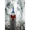 Portfolio Canvas Decor Patriotic Empire State by GI ArtLab Graphic Art on Wrapped Canvas