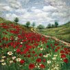 Portfolio Canvas Decor Poppy Vista by Sandy Doonan Painting Print on Wrapped Canvas