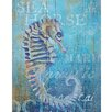 """Portfolio Canvas Decor """"Seahorse and Sea-Crop"""" by Ali Zoe Painting Print on Wrapped Canvas"""