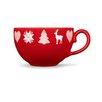 Friesland Kaffee-Obertasse Happymix Weihnachten Rot