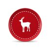 Friesland Happymix Red Christmas Breakfast Plate with Deer Decor