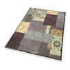 Dekowe Nostalgie Rug with Border in Lilac, Sand and Green
