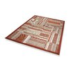 Dekowe Naturino Patchwork A2 Outdoor Rug in Red