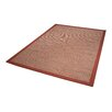 Dekowe Naturino Color Rug with Border in Red
