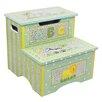 Fantasy Fields 2 Step Safari Crackle Storage Step Stool with 200 lb. Load Capacity