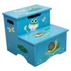 Fantasy Fields Froggy 2-Step MDF Step Stool with Storage with 200 lb. Load Capacity