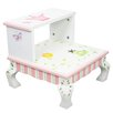 Fantasy Fields Princess and Frog 2-Step MDF Step Stool with 200 lb. Load Capacity