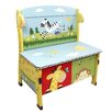 Fantasy Fields Sunny Safari Kids Bench with Storage Compartment