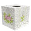 Fantasy Fields Crackled Rose Tissue Box Cover