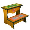 Fantasy Fields Little Sports Fan 2-Step MDF Step Stool with 200 lb. Load Capacity