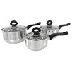 Buckingham 3-Piece Saucepan Set with Lids