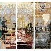 TAF DECOR NY Ave 3 Piece Graphic Art Plaque Set