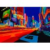 TAF DECOR Vibrant City Graphic Art on Wrapped Canvas