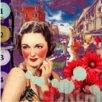 TAF DECOR Blushing Beauty Giclee Graphic Art on Canvas