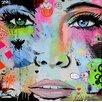 TAF DECOR Hello Giclee Graphic Art on Canvas