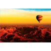 TAF DECOR Hot Air Balloon Over Egyptian Valley of The Kings Photographic Print on Canvas