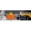 TAF DECOR Classic NY Neon Graphic Art on Canvas