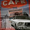TAF DECOR Breakfast Cafe Vintage Advertisement on Canvas